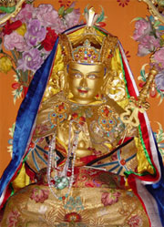 Guru Rinpoche statue made by Vairocana