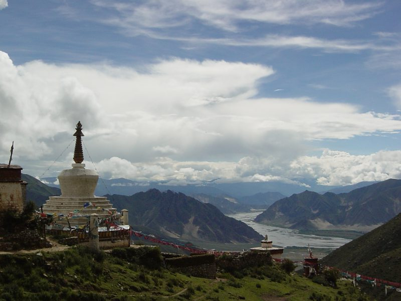 View from Longchenpas cave, Central Tibet